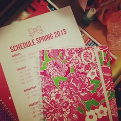 Lilly day planner.