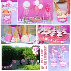 Lots of fun ideas at a pink Circus party! See more party ideas at CatchMyParty.com! #partyideas #circus