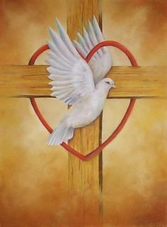heart dove cross