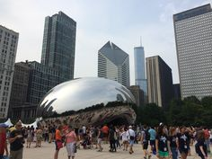 Cloud Gate ('The Bean') in Chicago, IL