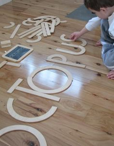 We have a set of these - they are a little fragile (just 2 ply) but Jack loves them and is enjoying making different letters