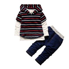 KONFA First Valentines Day Romper+Letter Print Pants+Hat 3Pcs Outfits for Toddler Kids Newborn Baby Girls Boys Clothes