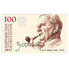 Sello conmemorativo del 125 aniversario del nacimiento de J.R.R. Tolkien