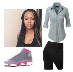 """all about the money"" by breonfleek ❤ liked on Polyvore featuring LE3NO, NIKE and STELLA McCARTNEY"