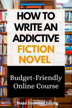 Are you a new writer who has no idea how to craft a novel? Is your writing a little flat? Would you like to learn how to write and structure an addictive novel that readers just cannot put down? Well, you're in the right place! This budget-friendly online writing course will take your writing struggles away and teach you how to write an addictive novel from scratch! #writingtips #novelwritingtips #howtowriteabook #writinganovelforbeginners #creativewritingcourse Online Writing Courses, Online Courses, Writing A Book, Writing Tips, Stand Corrected, Fiction Novels, Self Promotion, Master Class, Budgeting