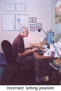 Correct Computer Posture | GadiBody.com | Neuromuscular Therapy - Strain Counterstrain Pain Relief - Los Angeles, Santa Monica CA