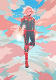 Captain Marvel - Created by Ricardo. Marvel Avengers, Marvel Comics, Marvel Women, Marvel Art, Marvel Heroes, Suga Twitter, Captain Marvel Carol Danvers, Game Of Thrones, Fiction