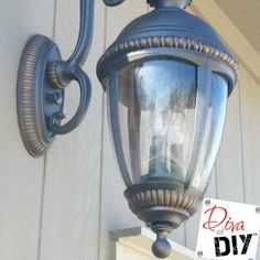 Don't throw away those faded outdoor lighting fixtures. Add instant curb appeal with this outdoor light makeover. Quick and Easy outdoor lighting DIY!