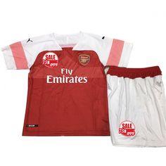 72f4aedf0 cheap Kids Arsenal Home Soccer Jersey Kit Children Shirt  amp  Shorts 2018- 19 Model