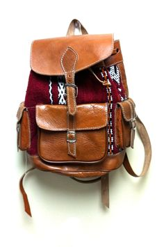 Leather Kilim Backpack