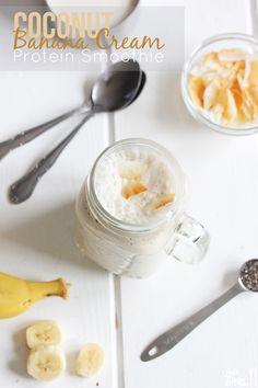 Coconut Banana Cream Protein Smoothie #dairyfree