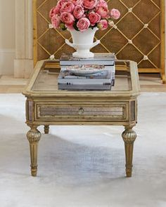 H6F2G Dresden Mirrored Coffee Table