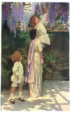 """Elizabeth Shippen Green: """"The Arbor,"""" one of four paintings for """"The Child in…"""