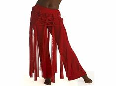 Red Web Tribal Gothic Pants