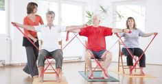 Pilates is one of the greatest physical fitness patterns of the past couple of decades. It is a callisthenic physical fitness regime, much like yoga is. Pilates Training, Pilates Workout, Gym Workouts, At Home Workouts, Band Workouts, Workout Routines, Pilates Video, Chair Exercises, Stretches