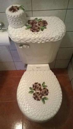 Crochet For Home - Bathroom Crochet Home, Love Crochet, Crochet Crafts, Crochet Doilies, Crochet Stitches, Crochet Baby, Crochet Projects, Knit Crochet, Diy Crafts