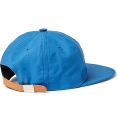 'It's based on the French who travelled around the USA in the 1960s' says Maison Kitsuné co-founder, Mr Masaya Kuroki, of the label's distinctive aesthetic. This baseball cap is a deft example of the brand's franco-American fusion. Crafted from sky-blue cotton-blend twill, it is embroidered with 'Parisien' at the front and has a tan leather tab at the back so you can adjust the fit. This retro-inspired accessory will top contemporary looks with a dose of sporty nonchalance.