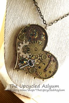 Handmade Resin Steampunk Inspired Heart by TheUpcycledAsylum