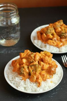 Simple Coconut Chicken Curry - Sub another low carb thickener for cornstarch and eat over cauliflower rice for a low carb meal.