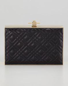 V1LS9 Jason Wu Karlie Quilted Book Box Clutch Bag, Black