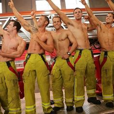 Shirtless Firefighters