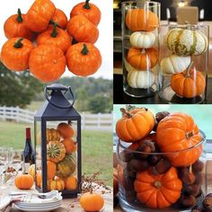 Buy Fall Mini Artificial Pumpkins Foam Pumpkins Small Pumpkins Fake Foam DIY Halloween Decorative Pumpkins(white orange) at Wish - Shopping Made Fun
