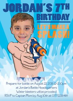 Splash Party Invitation Personalized with your by SandyFordDesign