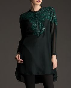 Tunic with beautiful embroidery,available now at www.ladyselection.com