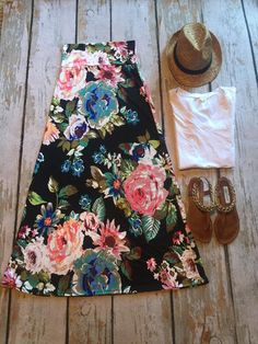 Floral Maxi Skirt   SexyModest Boutique #floral #maxi #Springstyle