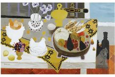 Fantastic art by Mary Fedden RA.  Her work is consistently charming