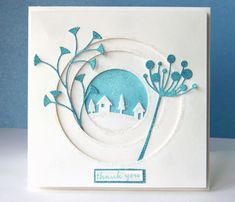 Winter Thank You by indycurt - Cards and Paper Crafts at Splitcoaststampers