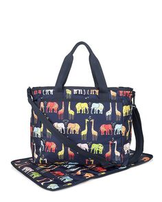 LeSportsac's been around forever, and we're loving the tried-and-true brand's new Ryan Bag ($138). Made of lightweight nylon, it's hand-washable with plenty of pockets (including two for bottles) and handy stroller straps. The zoo cute graphic animal print is quirky and fun.