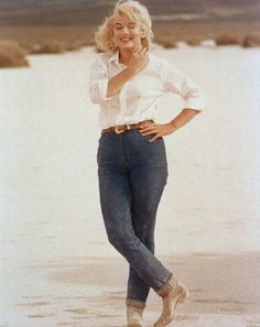 "Marilyn Monroe in her ""River of No Return"" Jeans"