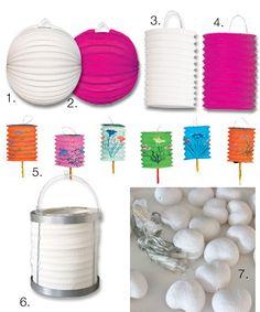 Goedkope witte lampionnen Bron: www.trouw-shop.nl