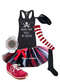 """""""Pirate Running Costume"""" by angela-holder on Polyvore featuring Barneys New York, New Balance, Suunto and NIKE"""