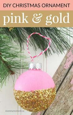 This DIY Christmas ornament will add some additional glitter to your tree this Christmas!
