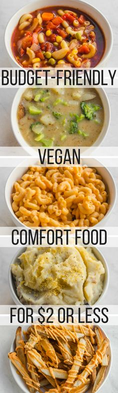 Budget Friendly Vegan Comfort Food Recipes - Under $2 per Serving! #vegan