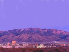 Sandia Mountains behind Albuquerque