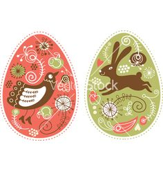 Easter eggs vector by Lenlis on VectorStock®