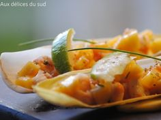 Endives aux crevettes et à la mangue