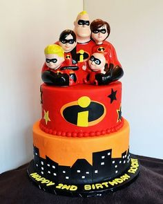 Incredibles birthday ideas | The Incredibles Cake by Simply Sweet Creations (www.simplysweetonline ...