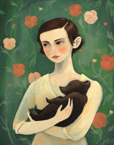 by Emily Winfield Martin. Girl with bear cub.