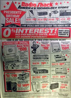 Everything in this 1991 Radio Shack ad exists today in one smartphone