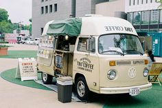 Tiki coffee van, kombi, sandwich board