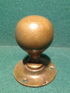 Reclaimed Antique Goose Egg Oval Door Knob / Handle Copper Coloured ...