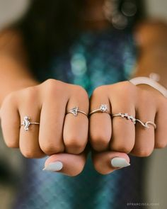 Hand Jewelry, Cute Jewelry, Jewelry Rings, Jewelery, Fashion Rings, Fashion Jewelry, Rose Gold Ring Set, Women Accessories, Jewelry Accessories
