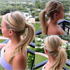 Twisted Ponytail Hair Tutorial