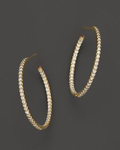 Bloomingdale S Diamond And Shire Inside Out Hoop Earrings In 14k White Gold 100 Exclusive Bloomingdales Pinterest