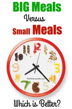 Are you wondering if you should be eating 5 – 6 small meals during the day or 2 – 3 larger meals? Which is better for your health? Let's find out! For years, we've been told to eat smaller meals throughout the day rather than a few larger meals. Heck, I've even probably told you
