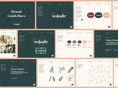 Sojade Brand Guidelines designed by Ale Giorcelli. Connect with them on Dribbble; Brand Guidelines Design, Brand Guidelines Template, Brand Identity Design, Graphic Design Branding, Identity Branding, Branding Template, Corporate Identity, Brochure Design, Visual Identity